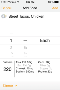 Log a Future Meal Street Tacos