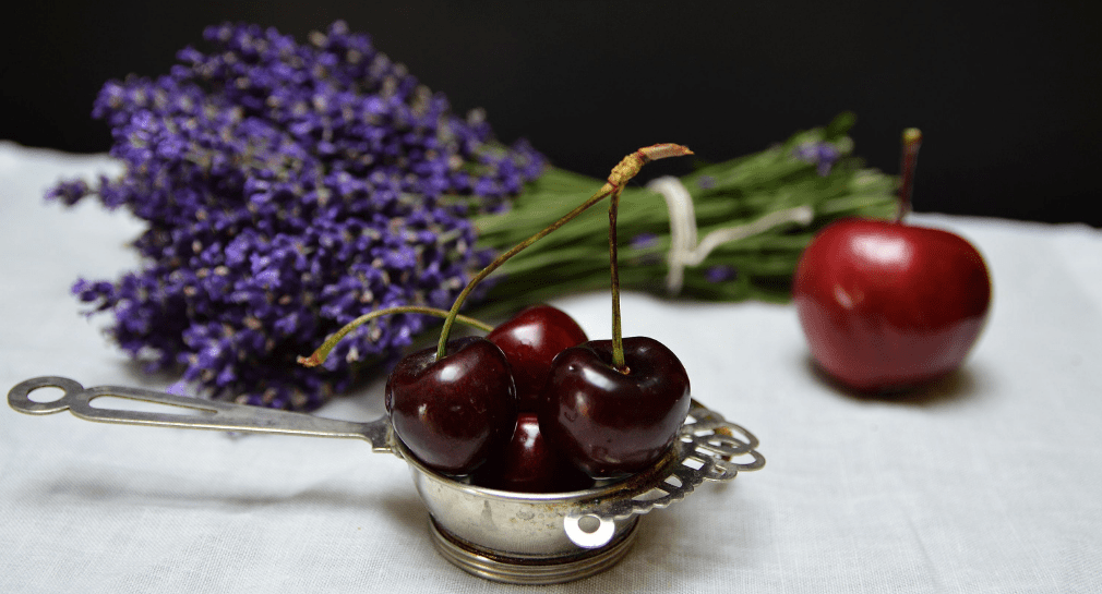 lavendar and cherries