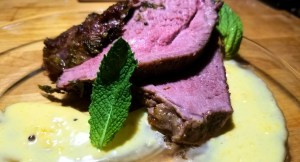 Easter dish: roasted leg of lamb with apricot aioli