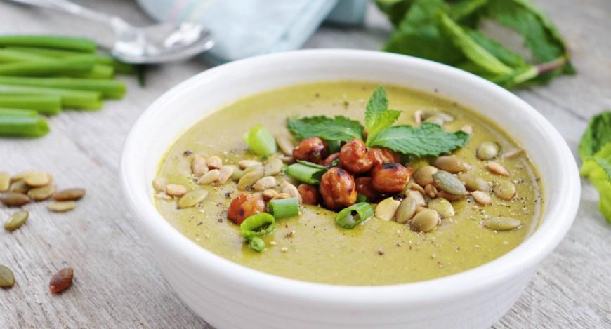 mint pea soup 2
