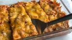 Healthy vegetarian enchilada casserole