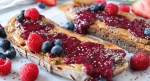 Triple berry chia seed jam on toast