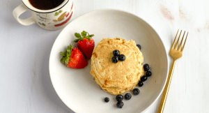 Plate of cottage cheese pancakes