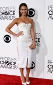 Jessica Alba Peoples choice awards 2014 lace up boidour dress red carpet street style