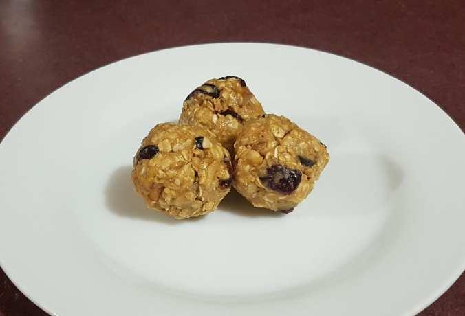Cranberry Walnut Protein Bites On Plate