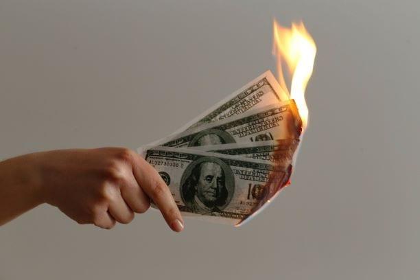 Money On Fire Cost of Binge Eating