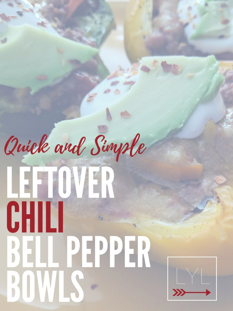 quick and simple leftover chili bell pepper bowls