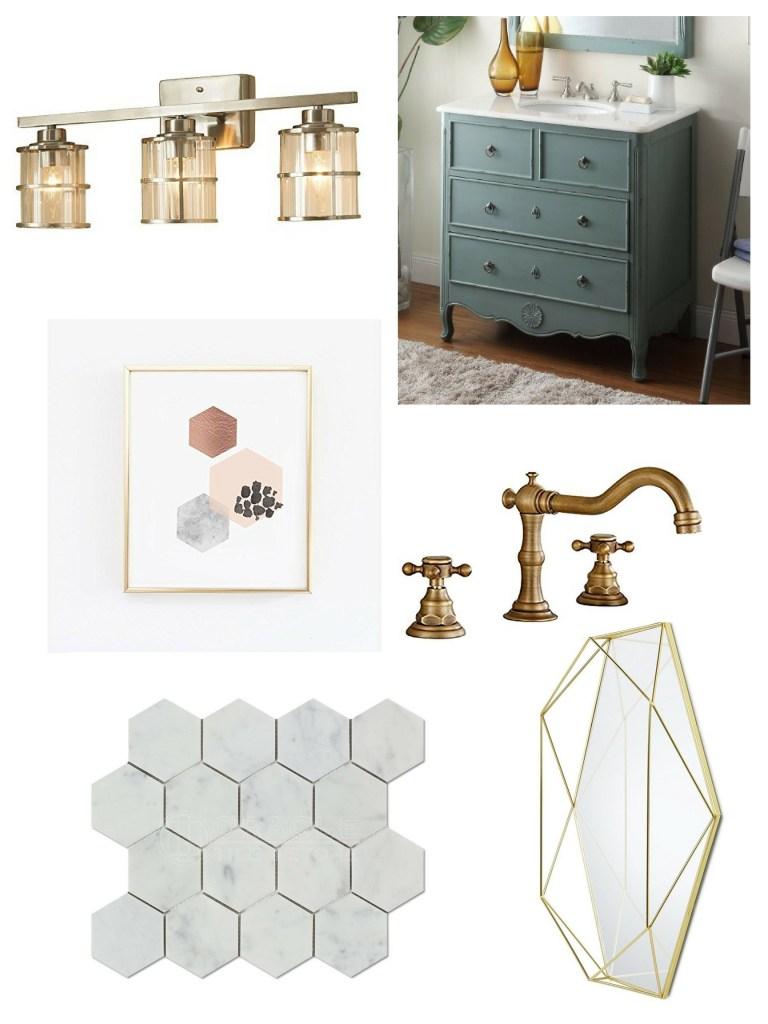 design a bathroom on a budget