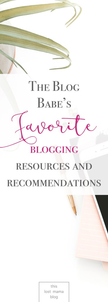 recommendations for mommy bloggers