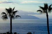 Los Gigantes, Tenerife. Looking over towards La Gomera and Puerto Santiago.