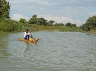 Papyrus canoe is so fancy