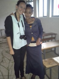 Semira and I. She is so smart and a really sweet person.