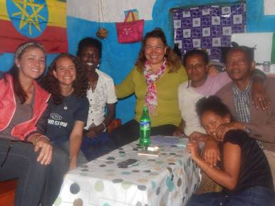 My family in my home. And my site-mate, Ashley