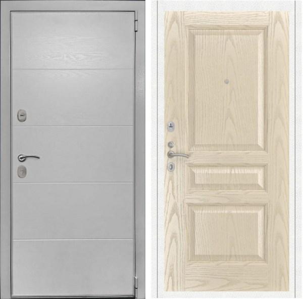 Металлическая дверь Luxor 35 Атлант 2 ясень слоновая кость ...