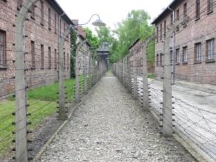 Doble perimetro a la salida de Auschwitz