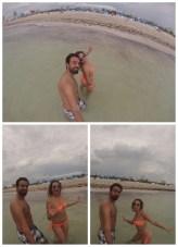 Haciendo el payaso en la playa, en South Beach ;)