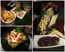Hoy nos vamos a dar un lujo. Cena en el Bocart: tabla de quesos y patatas bravas! Riquísimo!!