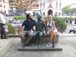 Con uno de los grandes poetas caleños de antaño