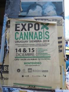 Aquí una muestra de que en Uruguay se ha legalizado la marihuana. Lástima que no tuviéramos tiempo de ir a la Expo!