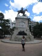Monumento que conmemora a Bruno Mauricio de Zabala, fundador de Montevideo en 1724