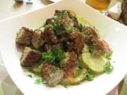 Y para cenar, libanés. Para un día que comemos y cenamos de restaurante, nos pusimos malos... los dos XDDD