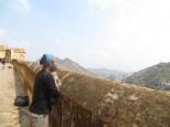 Juny contemplando las fantásticas vistas