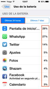 Consumo batería iOS 9