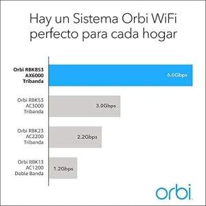 Netgear Orbi WiFi 6 AX4200- Cobertura WiFi 6 asequible para hogares y negocios - velocidades