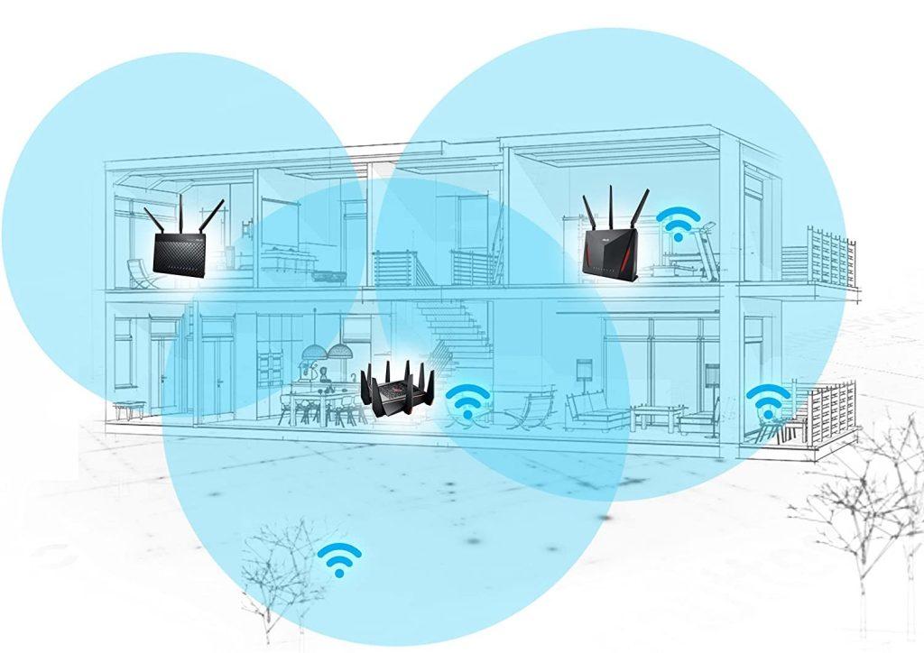 router de ASUS que soporta conexiones WiFi 6E