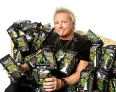 Joey Kramer with his Rockin' & Roastin' organic coffee, which will be available at all Big Y stores.  courtesy photo