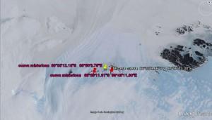 Zona de localización de todas las cuevas misteriosas en la Antártida.