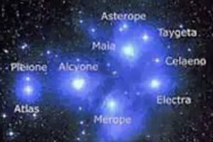 Las 7 estrellas más importantes de las Pléyades.