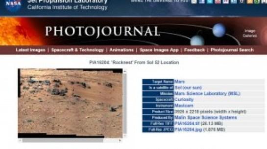 La localización de la imagen fotográfica de la NASA.