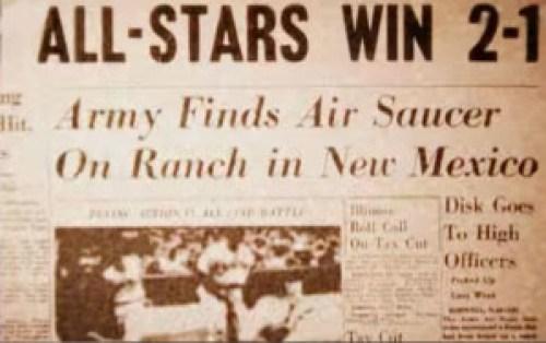La prensa recogió el suceso Ovni de Roswell.