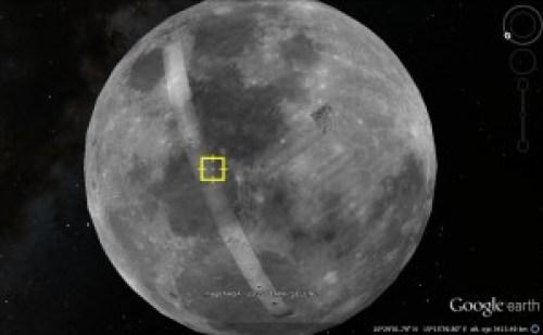 Google Earth Moon.
