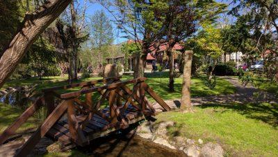 Jardín privado del restaurante.