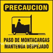 precaución montacargas