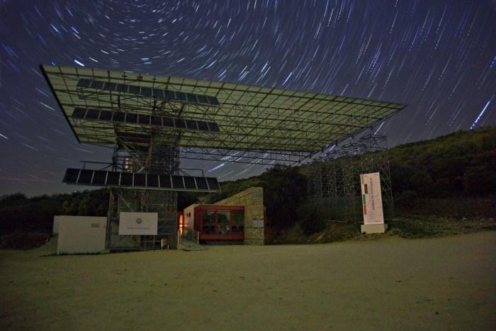 Estrella polar y entrada a los yacimientos de Atapuerca