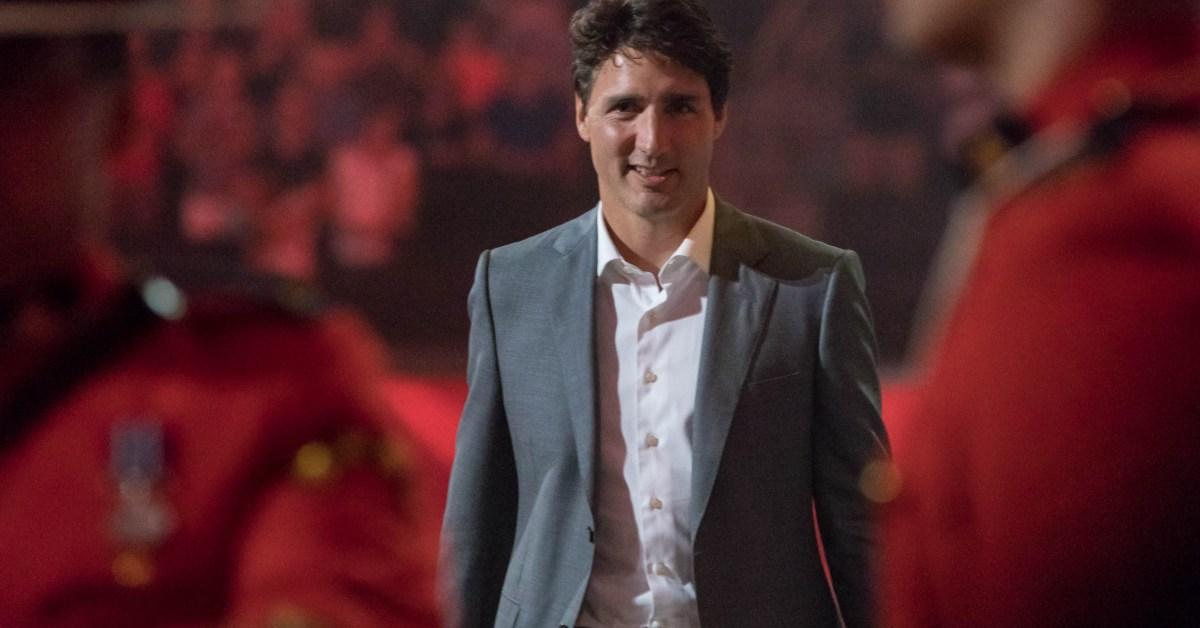 Un primo piano di Justin Trudeau