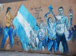 Un murales sulla fine della sinistra in America Latina