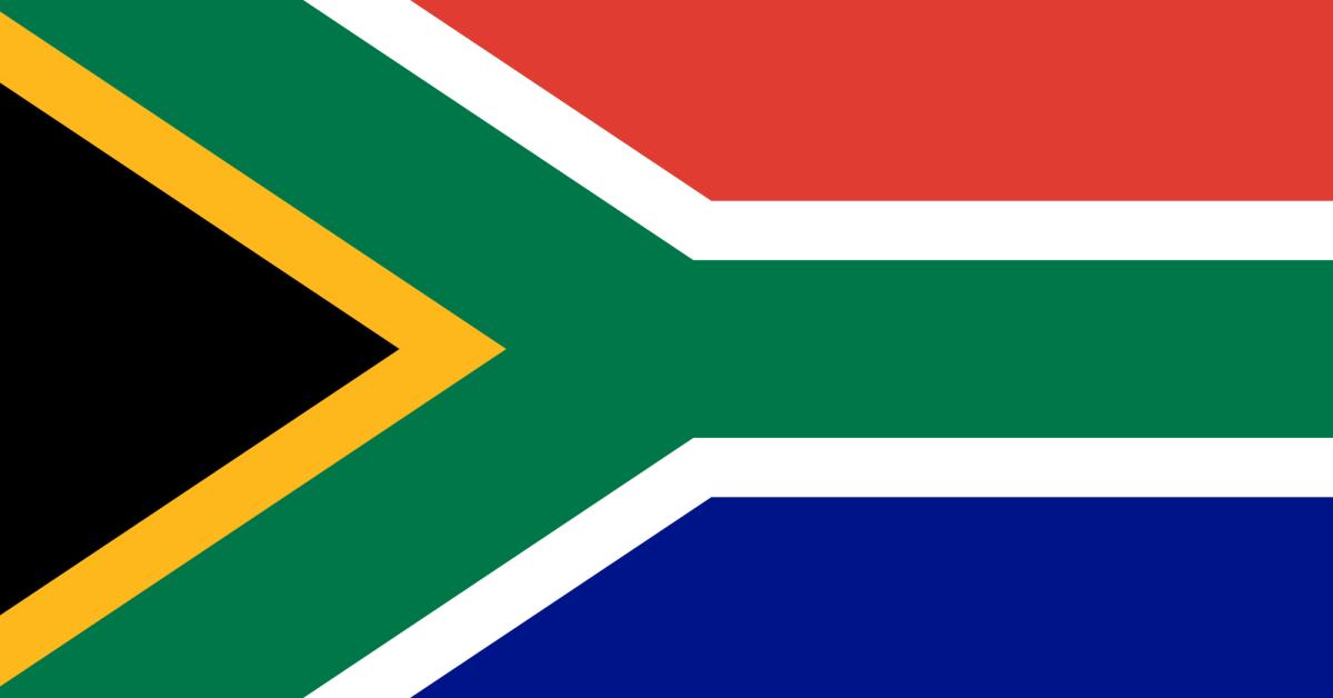la bandiera del Sud Africa