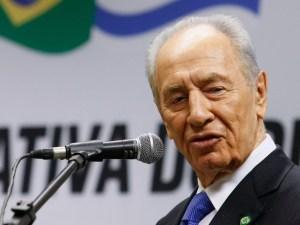 Un primo piano di Shimon Peres