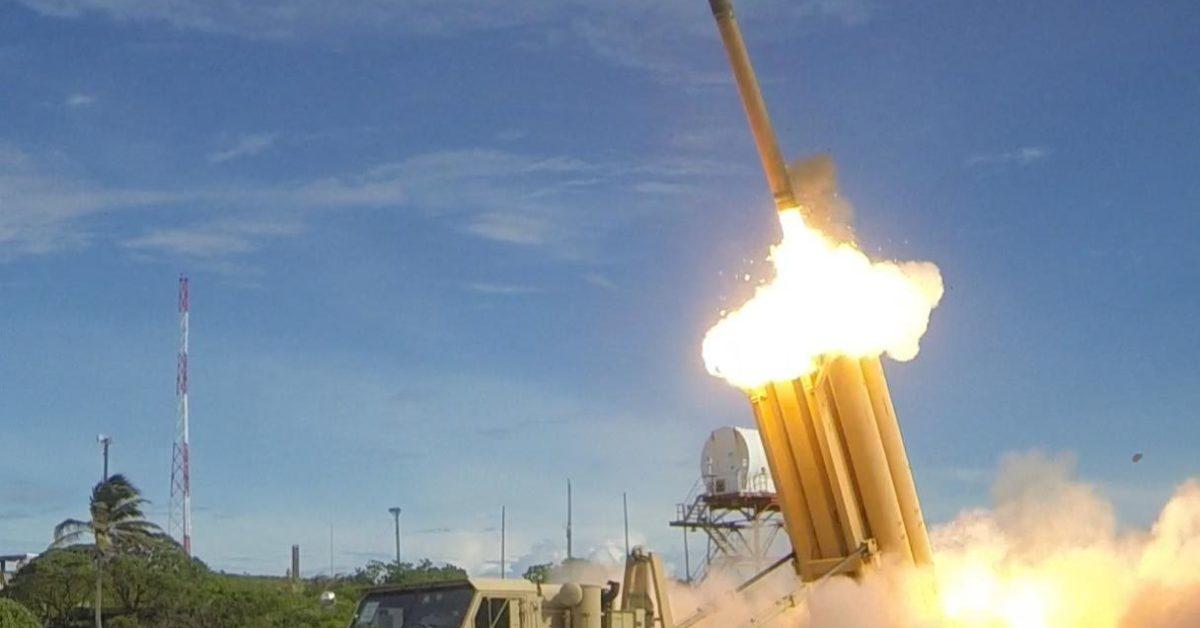 Un THAAD, un sistema missilistico in azione in Corea