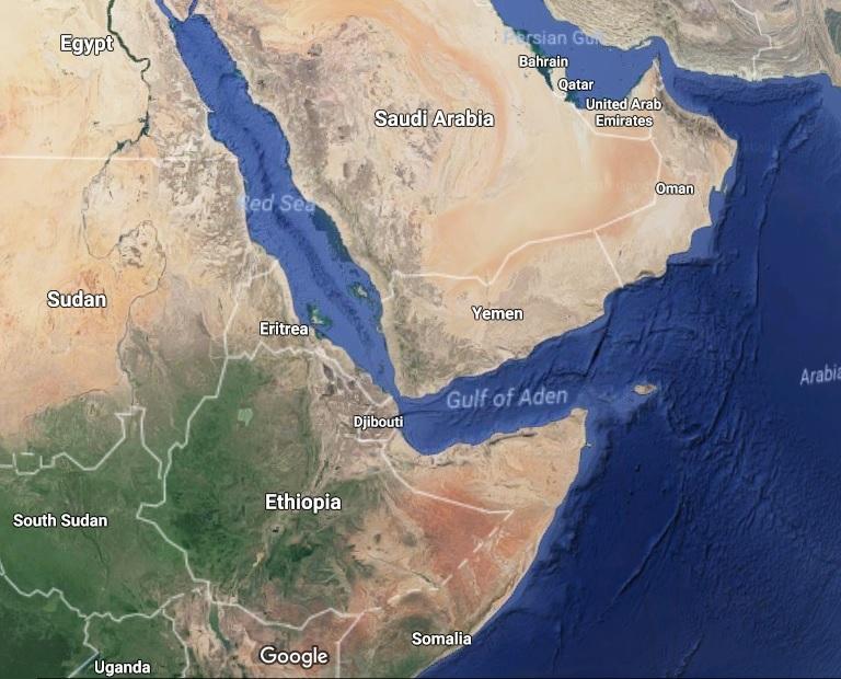 Corno d'Africa-Golfo-Mappa-Eritrea-Etiopia-Arabia Saudita-Qatar-Emirati