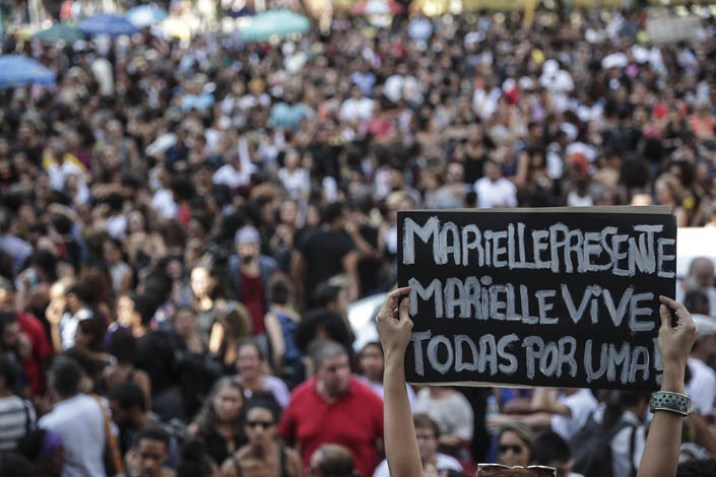 Large turn out for funeral for human rights activist Brazilian councilor Marielle Franco