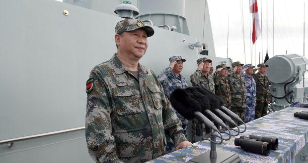 Xi Jinping durante le esercitazioni