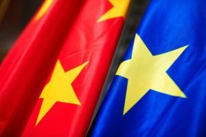 China-EU flag