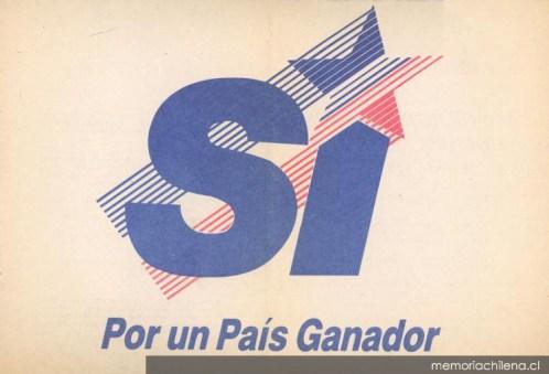 Il logo della campagna a sostegno di Pinochet