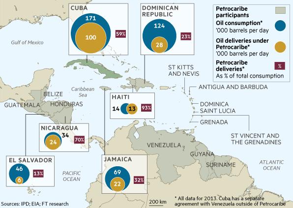 PetroCaribe map