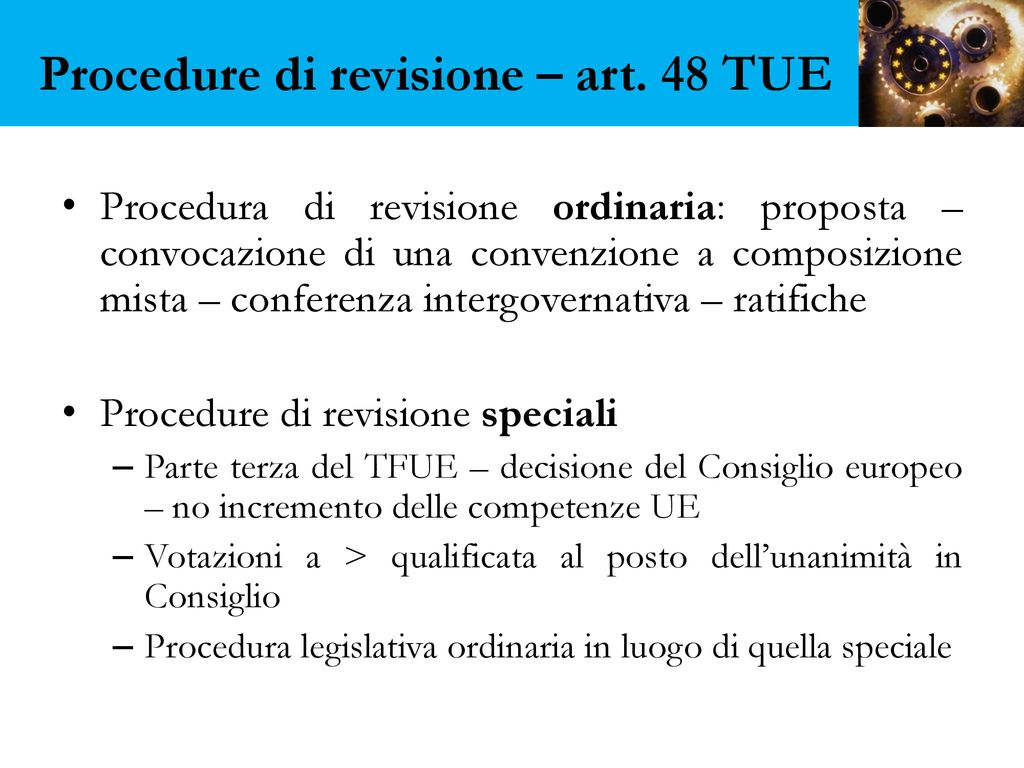Procedure+di+revisione+–+art.+48+TUE